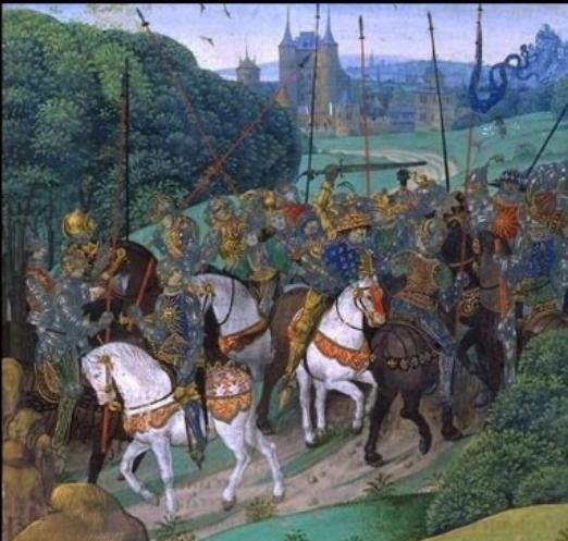 Charles VI devient fou en 1392 (illustration des Chroniques de Froissart)