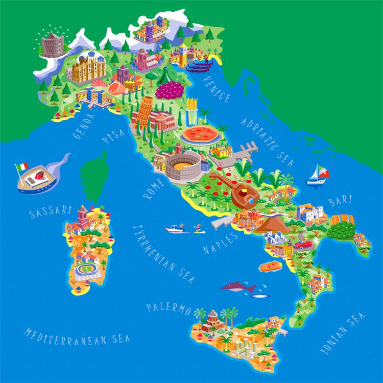 Italia pianta