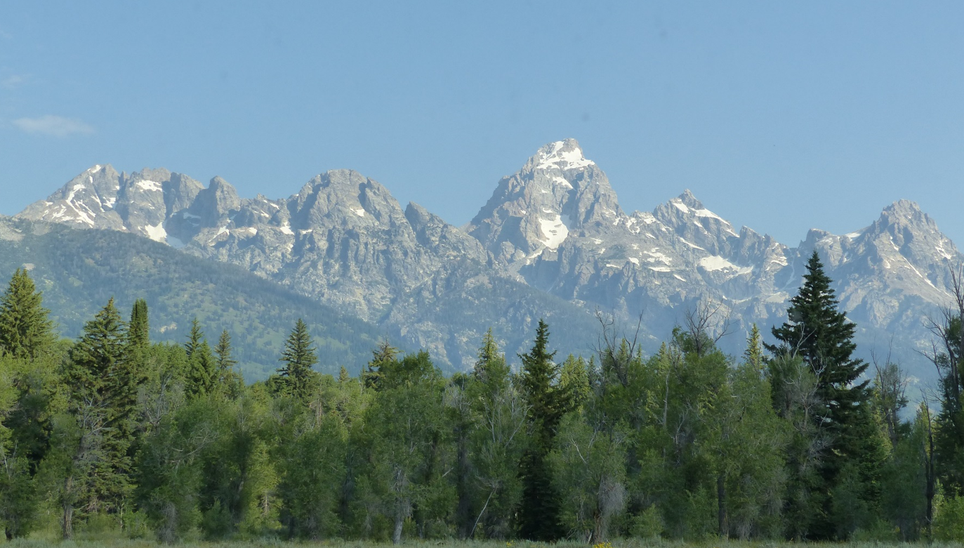 Le grand teton rocheuse usa