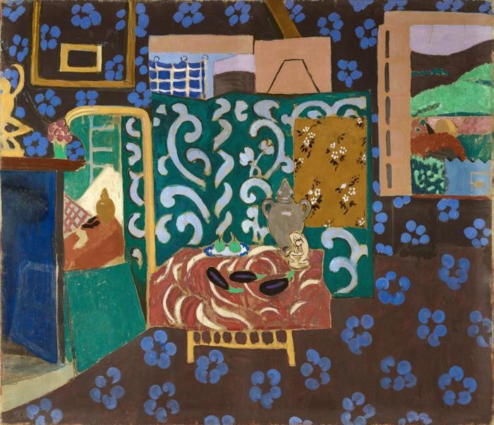 Matisse interieur aux aubergines