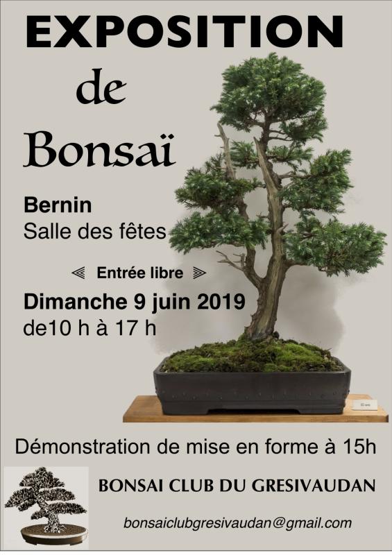 Affiche expo bonsai 2019