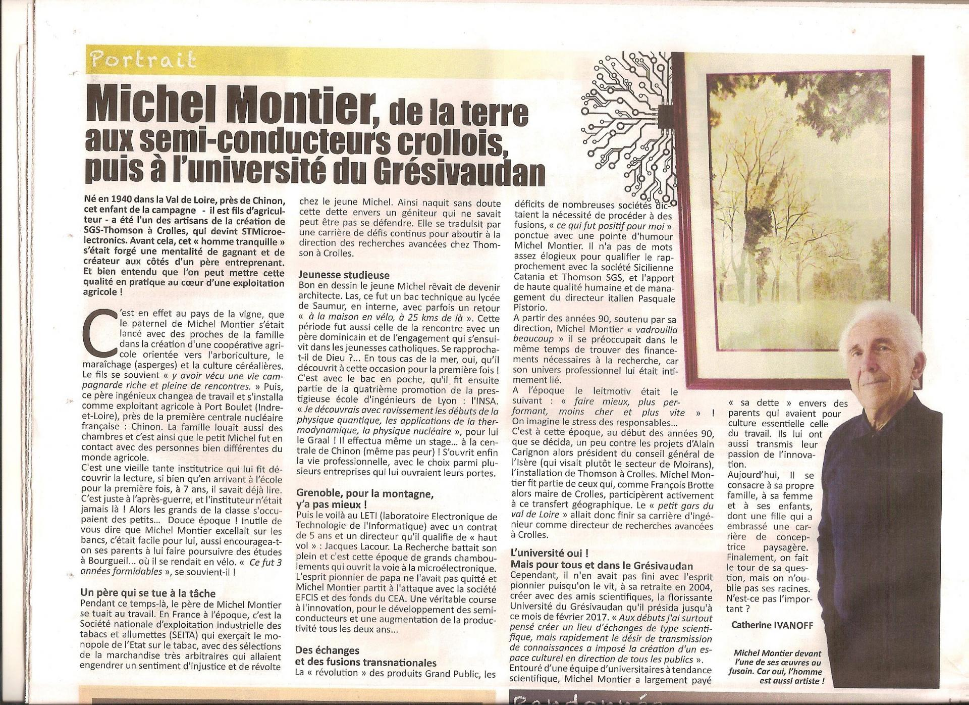 Article michel montier gresivaudan magazine mai 2020
