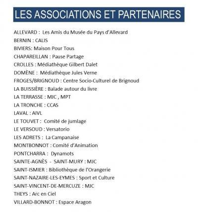 Associations partenaires