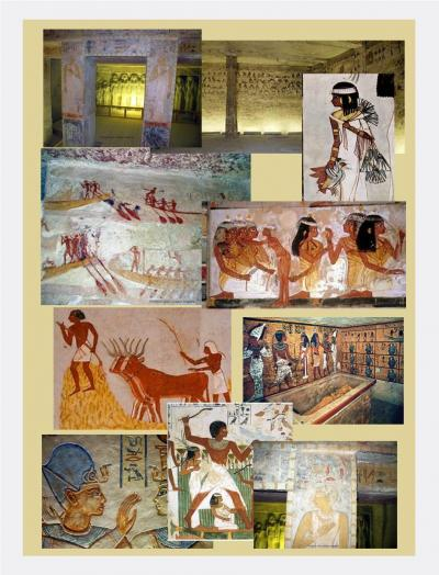 Illustrations tombes egyptiennes 6