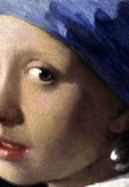"""""""La jeune fille à la perle"""" Vermeer. détail"""