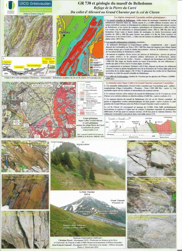 GR 738 et Géologie du massif de Belledonne